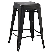 Lorell Metal Stool 24 H Black