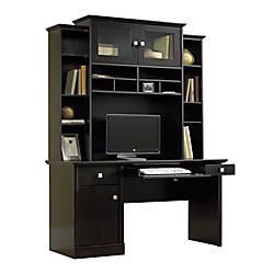 Sauder Conrad Computer Desk And Hutch Estate Black By