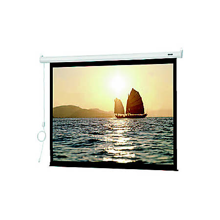 """Da-Lite Slimline 72606E 100"""" Electric Projection Screen - Yes - 4:3 - Matte White - 60"""" x 80"""" - Wall Mount, Ceiling Mount"""