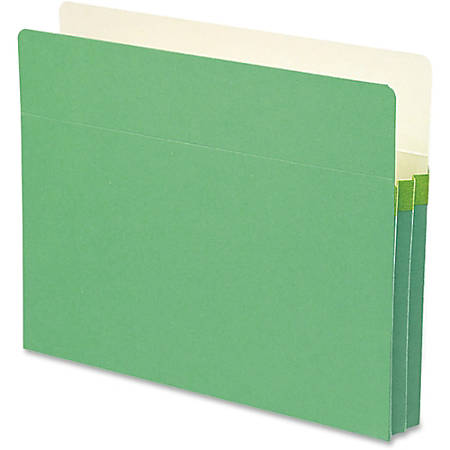 "Smead® Color Top-Tab File Pockets, Letter Size, 1 3/4"" Expansion, Green"