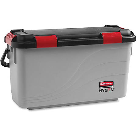 """Rubbermaid Commercial Microfiber Pads Charging Bucket - 13.5"""" x 10.5"""" - Gray - 3 / Carton"""