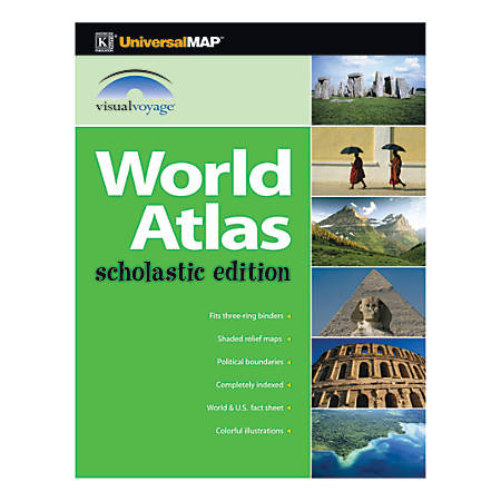 Kappa map group world scholastic atlases 8 12 x 11 grades 3 12 pack kappa map group world scholastic atlases gumiabroncs Image collections
