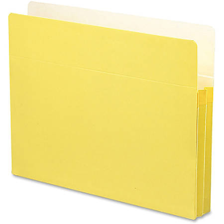 """Smead® Color Top-Tab File Pockets, Letter Size, 1 3/4"""" Expansion, Yellow"""