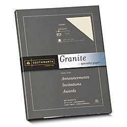 Southworth 75percent Recycled 25percent Cotton Granite