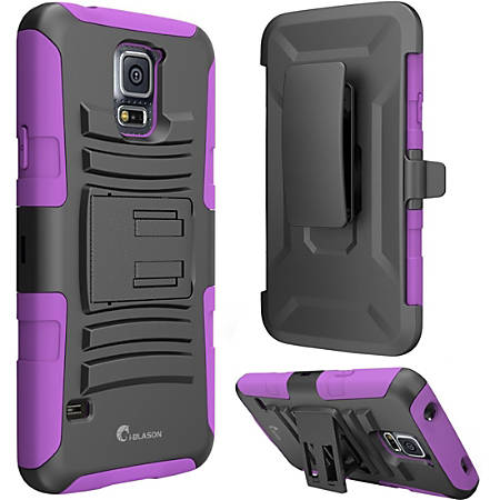 i-Blason Prime Carrying Case (Holster) Smartphone - Purple