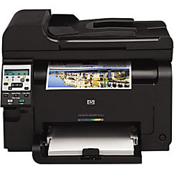 HP LaserJet Pro 100 M175NW Laser Multifunction Printer - Color - Copier/Printer/Scanner - 17 ppm Mono/4 ppm Color Print - 600 x 600 dpi Print - Manual Duplex Print - 1200 dpi Optical Scan - 150 sheets Input - Fast Ethernet - Wireless LAN