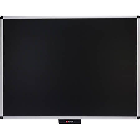 "Smead® Justick Bulletin Board, Aluminum, 48"" x 36"", Black, Aluminum Frame"