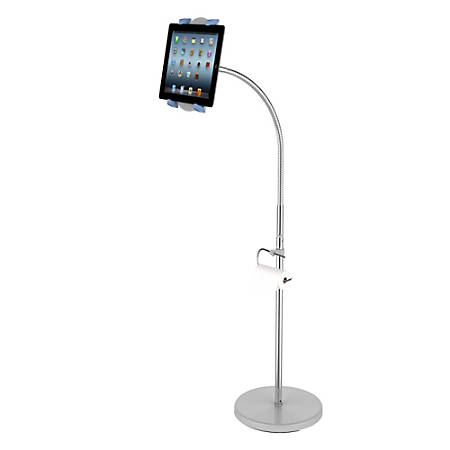 "Loctek X9 Floor Stand For Most 7 - 12"" Tablets, 34.6""H x 12""W x 12""D, Silver"