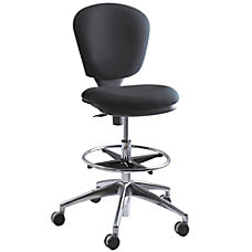 Safco Metro Extended Height Chair ChromeBlack