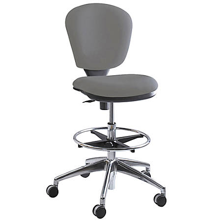 Safco® Metro™ Extended Height Chair, Chrome/Gray