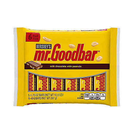 Hershey's® Mr. Goodbar Chocolate Bars, 6 Bars Per Pack, Bag Of 2 Packs