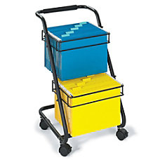 Safco Jazz Two Tier File Cart