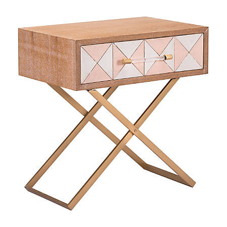 Zuo Modern Mod End Table, Rectangle, Multicolor