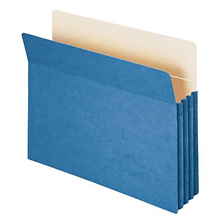 "Smead® Color File Pockets, 3 1/2"" Expansion, 9 1/2"" x 11 3/4"", Blue, Pack Of 25"