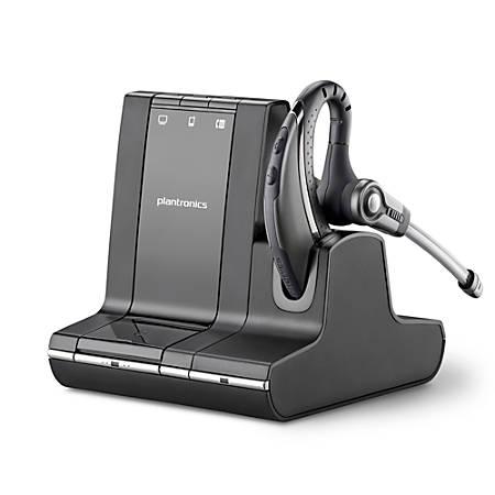 Plantronics® Savi™ 730-M Wireless Headset System, Black/Silver