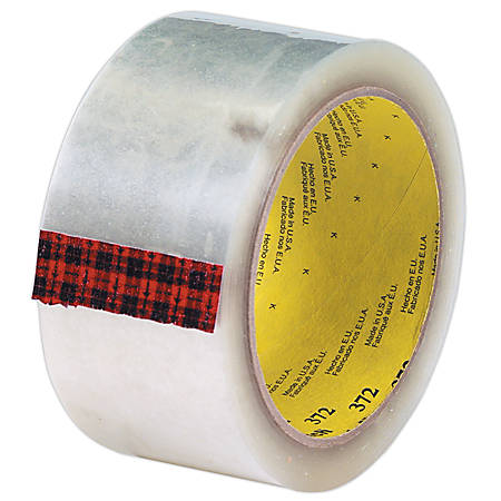 "3M® 372 Carton Sealing Tape, 2"" x 110 Yd., Clear, Case Of 36"