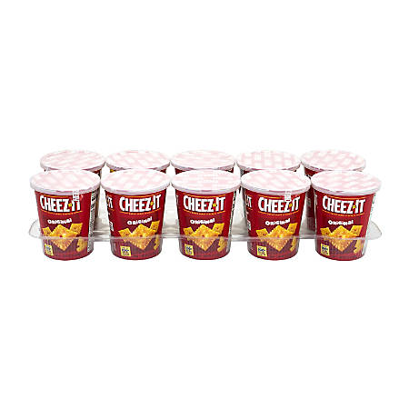 Cheez-It Original Baked Snack Cracker On-The-Go Cups, 2.2 Oz, Box Of 10 Cups