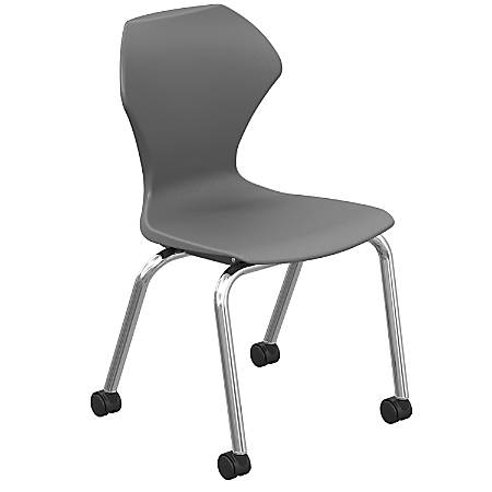 Marco Group Apex Mobile Stack Chairs, Charcoal/Chrome, Pack Of 2