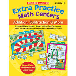 Scholastic Extra Practice Math Centers Addition