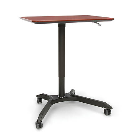 OFM Mesa Height-Adjustable Mobile Podium, Cherry