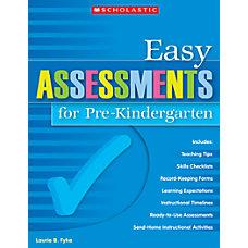 Scholastic Easy Assessments For Pre Kindergarten