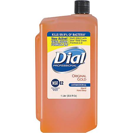 Dial Original Gold Antimicrobial Soap Refill - 33.8 fl oz (1000 mL) - Kill Germs - Skin, Hand - Orange - Antimicrobial - 1 Each