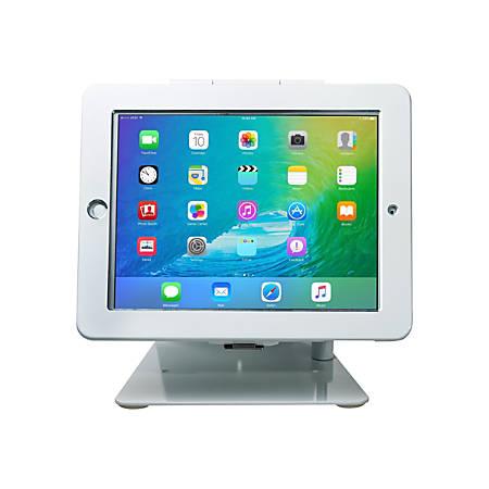 CTA Desktop Anti-Theft Stand - Stand for Apple iPad / iPad Pro 9.7 / iPad Air - white - desktop - for Apple 9.7-inch iPad; 9.7-inch iPad Pro; iPad; iPad 2; iPad Air; iPad with Retina display