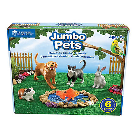 Learning Resources® Jumbo Pets, Grades Pre-K - 3, Set Of 6