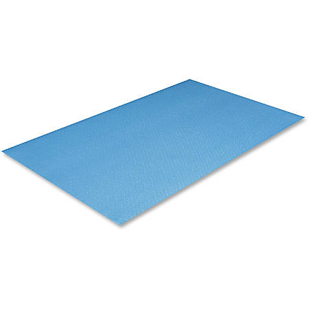 "Crown Mats Comfort-King Anti-fatigue Mat - Floor, Indoor - 36"" Length x 24"" Width x 0.38"" Thickness - Rectangle - Extra Bounce - Sponge, PVC Foam - Royal Blue"