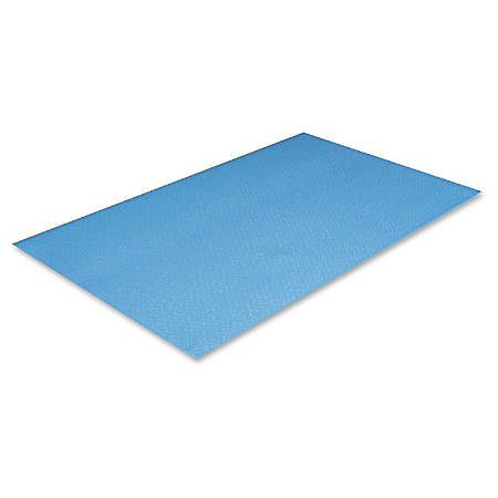 "Crown Mats Comfort-King Anti-fatigue Mat - Floor, Indoor - 36"" Length x 24"" Width x 0.38"" Thickness - Rectangle - Extra Bounce - Sponge, PVC Foam - Royal Blue"