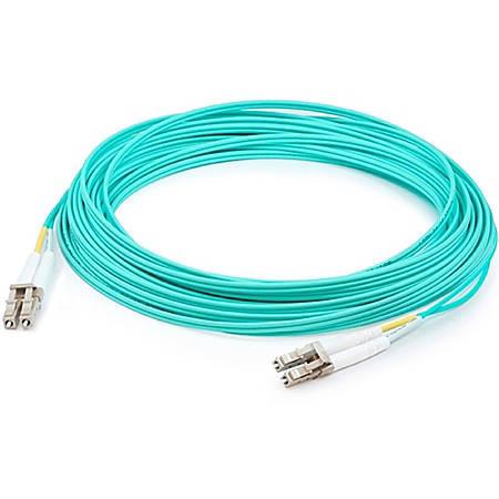 AddOn 40m LC (Male) to LC (Male) Aqua OM4 Duplex Fiber OFNR (Riser-Rated) Patch Cable