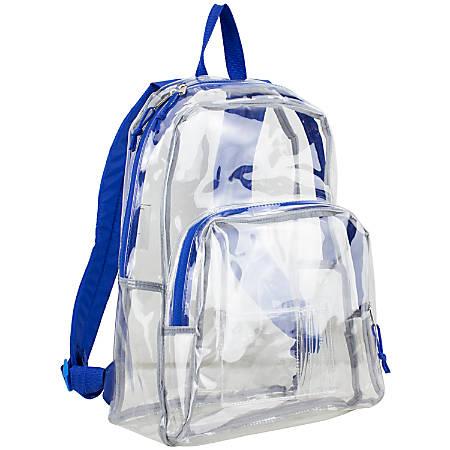 Eastsport Clear PVC Backpack, Cobalt