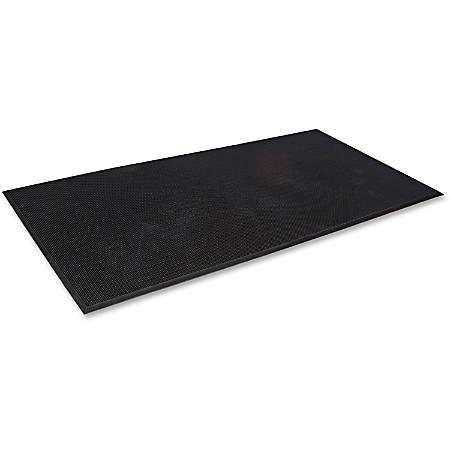 "Crown Mats Mat-A-Dor Rubber Fingertip Scraper Mat - Entryway, Floor, Home, Office, Indoor, Outdoor - 32"" Length x 24"" Width x 0.63"" Thickness - Rectangle - Rubber - Black"