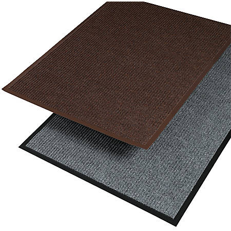 "Crown Needle Rib Wipe And Scrape Indoor Mat, 36"" x 60"", Brown"