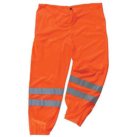 Ergodyne GloWear® 8910 Class E Polyester Hi-Vis Pants, Large/X-Large, Orange