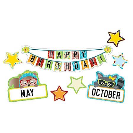 Carson-Dellosa Hipster Birthday Mini Bulletin Board Set, Multicolor, Grades K-5