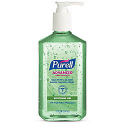 PURELL® Advanced Hand Sanitizer Soothing Gel, Fresh Scent, 12 fl oz Pump Bottle