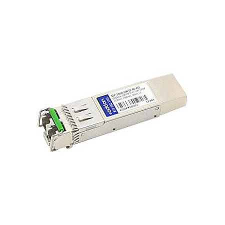 AddOn MSA and TAA Compliant 10GBase-DWDM 100GHz SFP+ Transceiver (SMF, 1562.23nm, 80km, LC, DOM)
