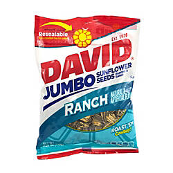 David Jumbo Sunflower Seed Pouches Ranch