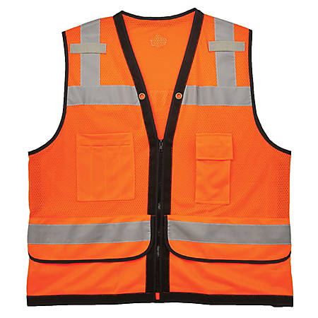 Ergodyne GloWear Safety Vest, Heavy-Duty Mesh, Type-R Class 2, 4X/5X, Orange, 8253HDZ