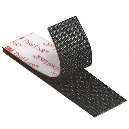 "3M™ Dual Lock™ Reclosable Fasteners, SJ3540, 0.5"" x 150', Black, Pack Of 4"