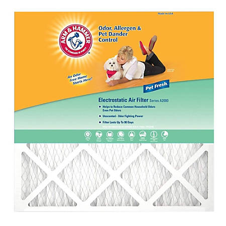 "Arm & Hammer Enhanced Pet Fresh Air Filters, 20""H x 14""W x 1""D, Pack Of 4 Filters"