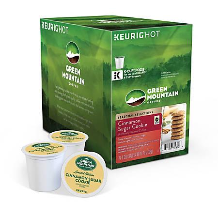Green Mountain Coffee® Cinnamon Sugar Cookie Coffee Single-Serve K-Cup®, Carton Of 24