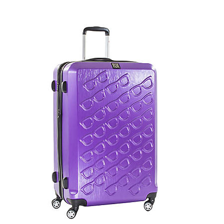 """ful Sunglasses ABS Upright Rolling Suitcase, 25""""H x 17 3/8""""W x 11""""D, Purple"""