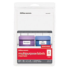 Office Depot Brand Removable InkjetLaser Labels