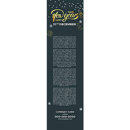 Vertical Banner Template, Light & Snow