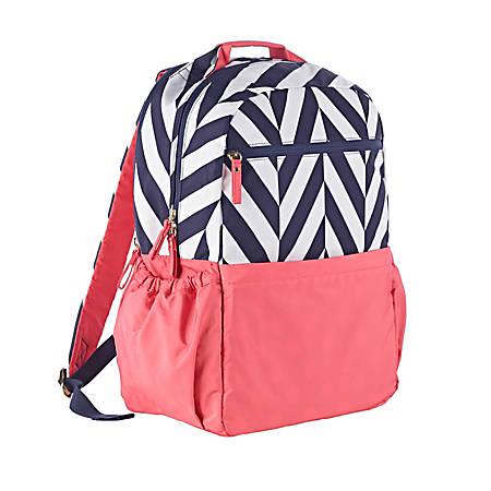 Studio C® Tweedle Dee Laptop Backpack, Navy/Peach
