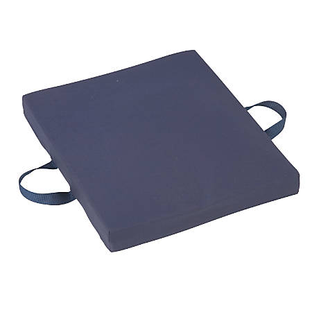 "DMI® Reversible Foam Comfort Seat Cushion, With Poly/Cotton Cover, 2""H x 18""W x 16""D, Navy"