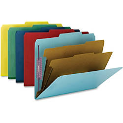Smead Colored Pressboard Classification Folders with