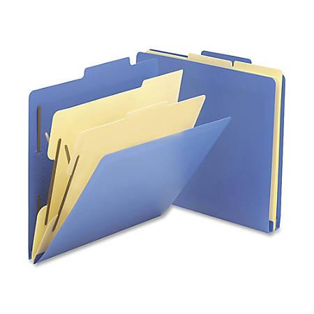 "Smead® Heavy-Duty Classification Folders, Letter Size, 2 1/2"" Expansion, Blue, Box Of 10"